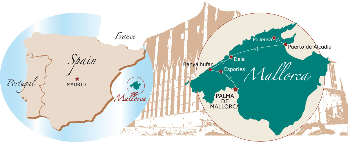 Cycle tour of Mallorca map