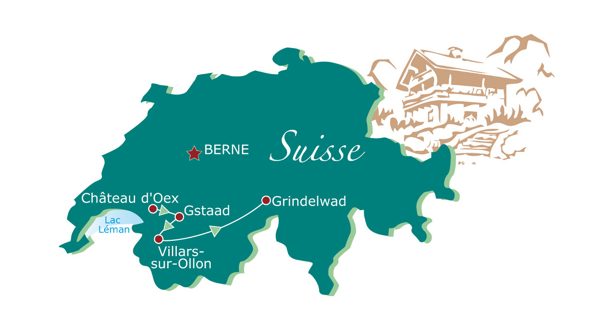 Biking in Switzerland map